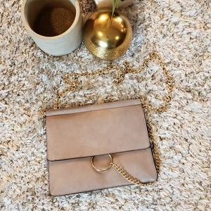 Clutch bag with chain strap